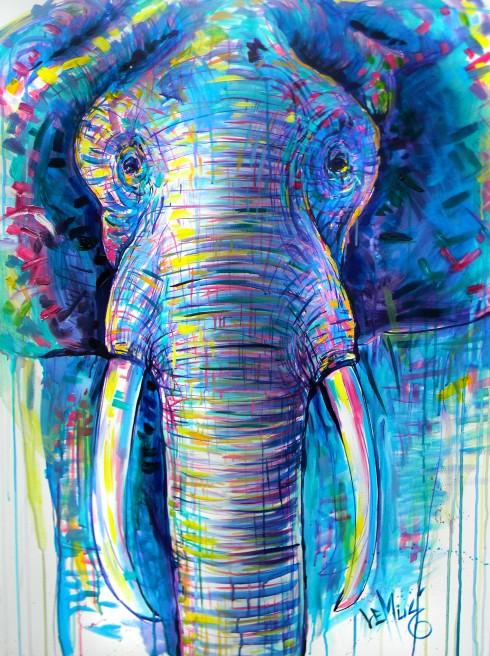 Elephant of contrast